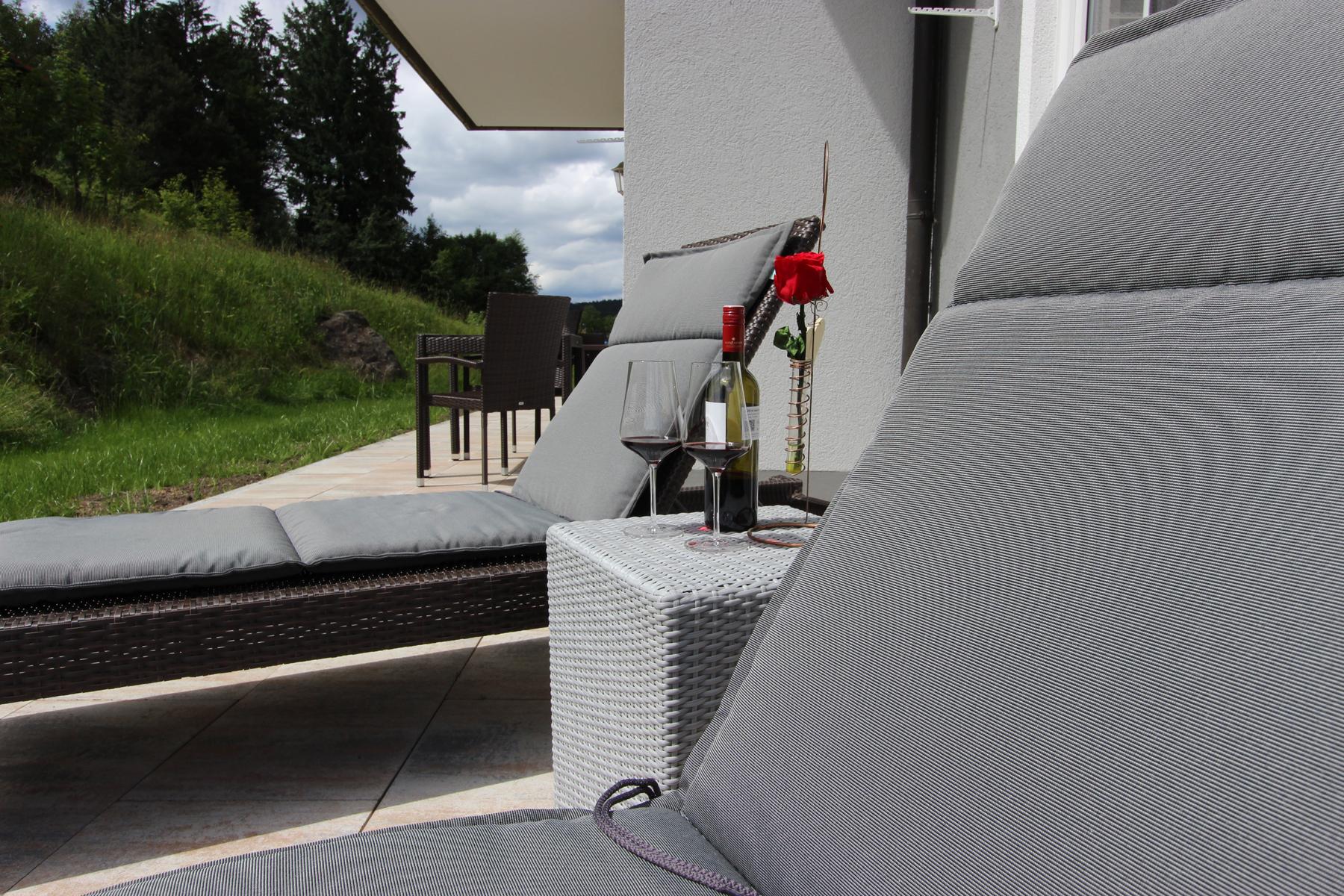 Terrasse Ferienhaus Steinriegel